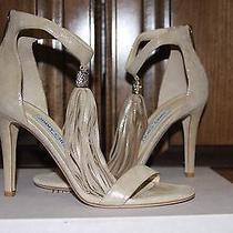 New in Box Gorgeous Jimmy Choo Viola 100 Nude Heels Size 38 1/2 975 Photo