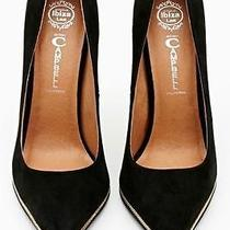 New in Box Jeffrey Campbell Beloved Black Suede Pumps Us 6  Photo