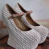 New in Box Jeffrey Campbell Night Walk Lace Ivory Style Shoes 7.5 Photo