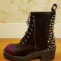 New in Box Jeffrey Campbell Purple Spiked/studded Boots Sz 10 Retired Style Photo
