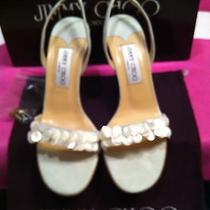 New in Box  Jimmy Choo Mother of Pearl Strappy Mint Color Hills Us Shoe Size 7 Photo