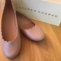 New in Box Lauren Conrad Blush Pink Scalloped Flats Size 9.5 Photo