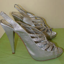 New in Box Liliana Diesel-4 Silver Heels Photo