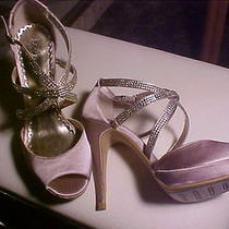 New in Box Lulu Townsend Valdez Wedding/bridal Shoes-champagne&rhinestones 8m  Photo
