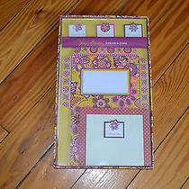 New in Box Nib Vera Bradley Create-a-Card Set Bali Gold Retail 15.00 Photo