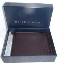 New in Box Polo Ralph Lauren Mens Billfold Wallet Black Leather Photo