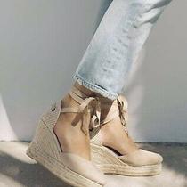 New in Box Soludos Mallorca Wedge Espadrille Sandal Women's Size 6.5 Blush Photo