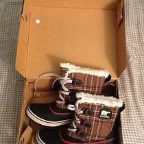 New in Box Sorel Tivoli Plaid Boots Photo