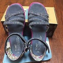 New in Box Toms  Size  Y2  Chambray Sandals Photo
