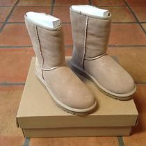 New in Box Ugg Australia Womens Classic Short Sand Size 7 Boots 100% Authentic Photo