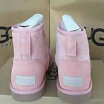 New in Box Uggs Blush Pink Suede Classic Mini Sheepskin Boots Us Size 5 Women's Photo
