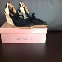 New in Box via Spiga Black Satin Epadrille Photo
