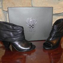 New in Box Vince Camuto 8.5 Medium Ciera Black Leather Ankle Boots Photo