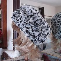 New in Box With Tags 2 Pieces Adrienne Landau Faux Fur Scarf & Hat Snow Leopard Photo