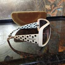 New in Case Authentic Miu Miu 7hk-5d1  Women White With Black Dots - by Prada Photo