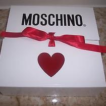 New in Gift Box Moschino Signature Footie Made in Italy 9-12 Photo