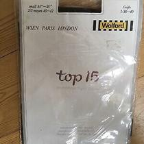 New in Packaging Wolford Top 15 Nearly Black Silky Soft Tights Small 34-38 Photo