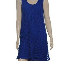 New Inc Sleeveless Battenburg Lace Dress Sz 14 Photo