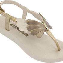New Ipanema Gisele Bundchen Sunset Beige/gold Flip Flop Womens Sandals Sizes  Photo