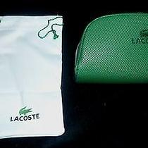 New Izod Lacoste Green Sunglasses Zippered Case With Drawstring Bag  Photo