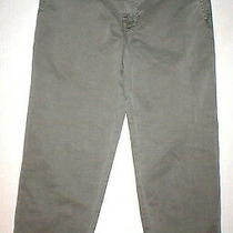 New J Brand Jeans Relaxed Womens Parker Vin Fort 27 Chino Pant Army Green Cotto Photo