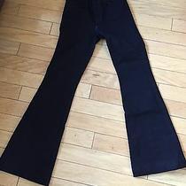New J Brand the Doll Denim Jeans Wide Leg Flare Size 24 Black Photo