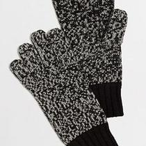 New J Crew Factory Wool Blend Tech Gloves Black White One Size  Nwt 29.50 Photo