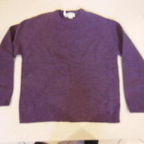 New J. Crew Mens Sweater Lambs Wool Plum Purple Crew Neck Large Knitted 57215 Photo