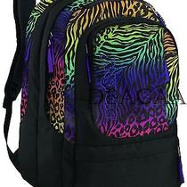 New Jansport Air Cure Animal Frenzy Rainbow Computer Laptop School Backpack Nwt Photo