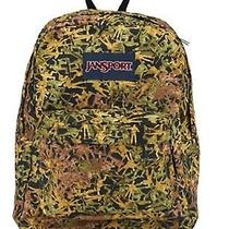 New Jansport Backpack Superbreak Green Battle Ground Padded Shoulder Strap Photo