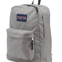New Jansport Backpack Superbreak Grey Rabbit Padded Shoulder Strap Photo