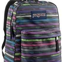New Jansport Backpack Superbreak Multi Tribal Stripe Padded Shoulder Strap Photo