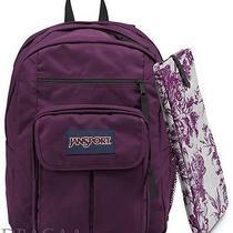 New Jansport Digital Student Berrylicious Purple Computer Laptop Sleeve Backpack Photo