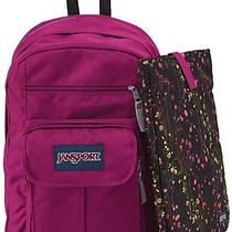 New Jansport Digital Student Big Berrylicious Backpack & Computer Laptop Sleeve Photo