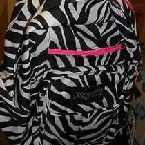 New Jansport Digital Student Big  Zebra Backpack & Computer Laptop Sleeve Photo