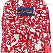 New Jansport High Stakes Backpack Coral Dusk Jungle Adventure Velvet Freeship Photo
