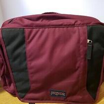 New Jansport Maroon Messenger Shoulder Bag Laptop Computer Bag  Photo