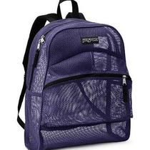 New Jansport Mesh Big Backpack School See Through - Purple Electric  Photo