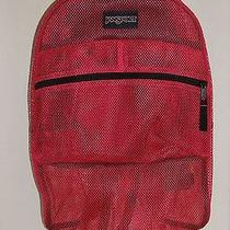 New Jansport Mesh Pack Pink Tulip Backpack Bookbag Nwt Photo