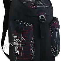 New Jansport Misdemeanor Black White Red School Laptop Computer Hiking Backpack Photo