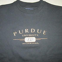 New Jansport Purdue University Boilermakers Mens Black College Sweatshirt Medium Photo