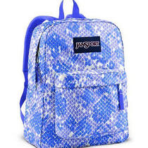 New Jansport Superbreak Classic Backpack - Purple Sky/penelope Purple Scatter Photo