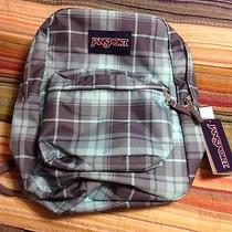 New Jansport Superbreak Forge Grey Green Plaid School Bag Backpack Photo