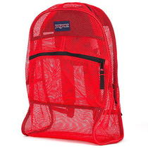 New Jansportsuperbreak Mesh Red Womens Mens Backpack Travel Bag  Photo