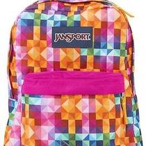 New Jansport Superbreak Multi Spectrum Bright Colors School Girl Boy Backpack Photo