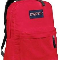 New Jansport Superbreak Red Tape School Girl Boy Backpack Nwt Photo