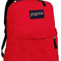 New Jansport Superbreak Red Tape School Girl Boy Student Backpack Nwt Photo