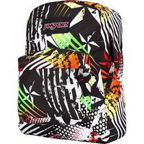 New Jansportsuperbreak Shackle Womens Mens Zebra Backpack Travel Bag  Photo