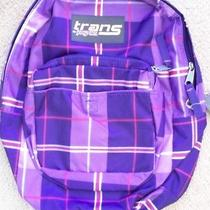New Jansport Trans Backpack Purple Red White Bag Youth. Photo