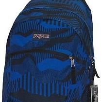 New Jansport Wasabi Blue Cracked Camo Computer Laptop v Loft Audio Backpack Nwt Photo